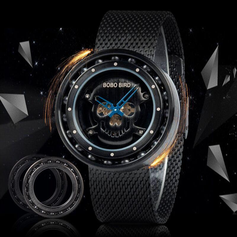 Skull Dial 360 Degree Rotation Wristwatch - Skullflow