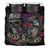 Rose Sugar Skull Bedding Sets - Skullflow