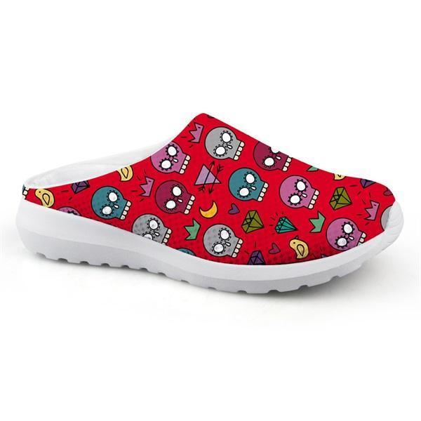 Skull Punk Light Home Sandals Flat Slipper Slip-on - Skullflow