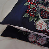 Rose Skull Bedding Sets Sugar Pistol - Skullflow