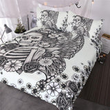 Gothic  Butterfly Skeleton Bedding Set - Skullflow