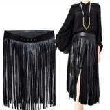 Gypsy Style Long Tassel Belt Skirt - Skullflow