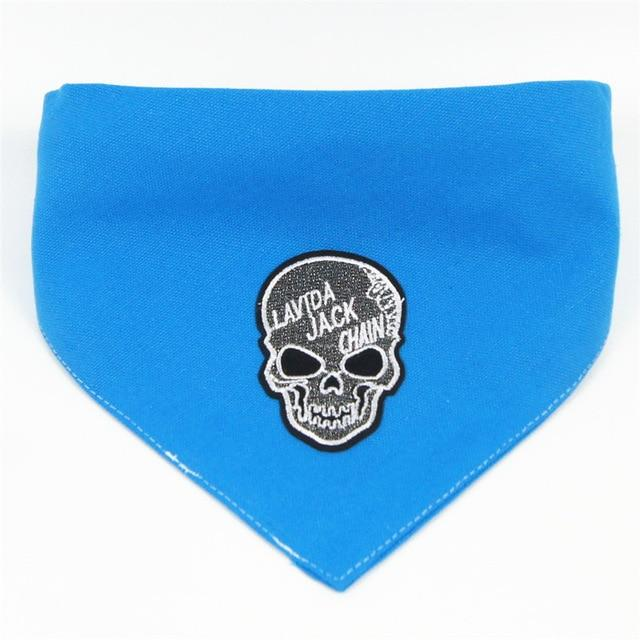 Dog Bandana Skull Collar Scarf