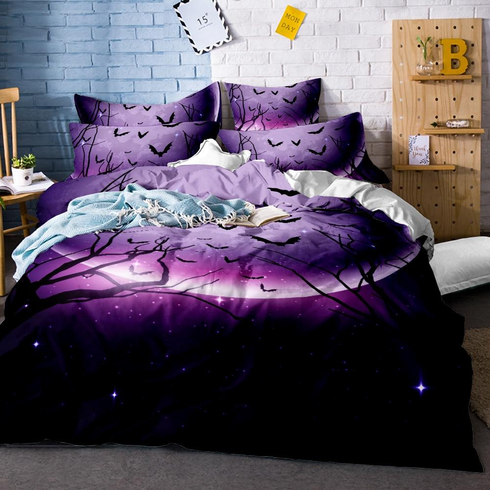Dark Moonlight Gothic Bedding Set - Skullflow