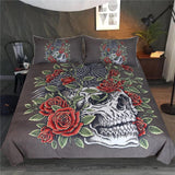 Skull Bird Crow Bedding Set - Skullflow
