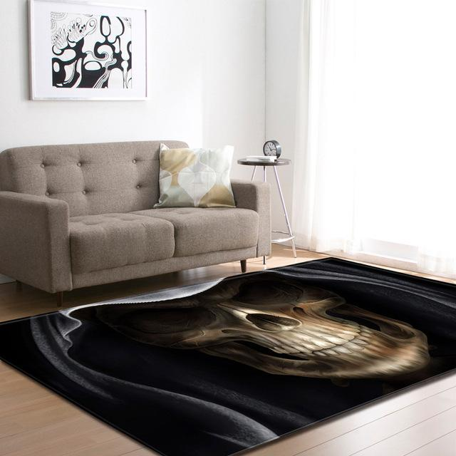 3D Skull Carpet for Living Room - Skullflow