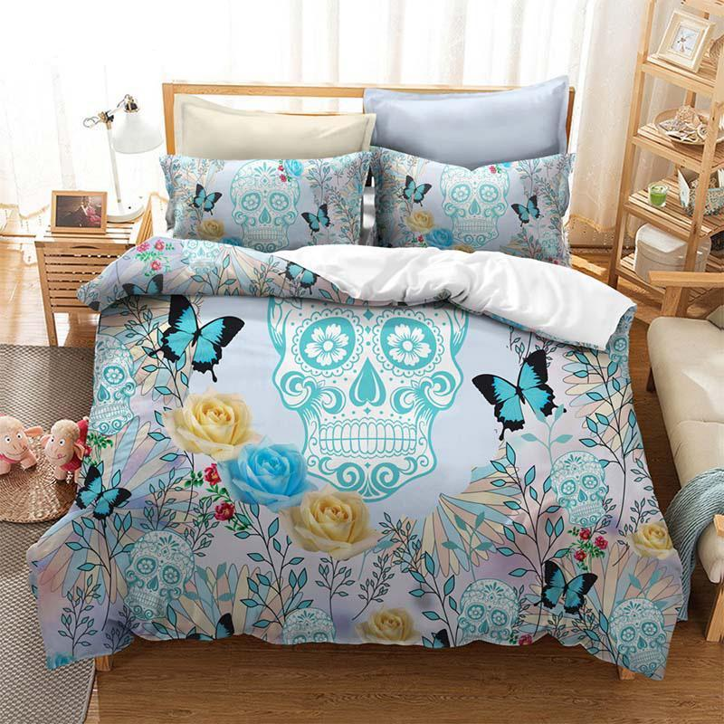 3D Watercolor Flower Bedding Set