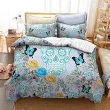 3D Watercolor Flower Bedding Set - Skullflow