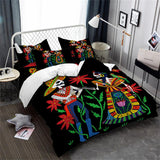 Boho Man and Women Skeleton Bedding Set - Skullflow