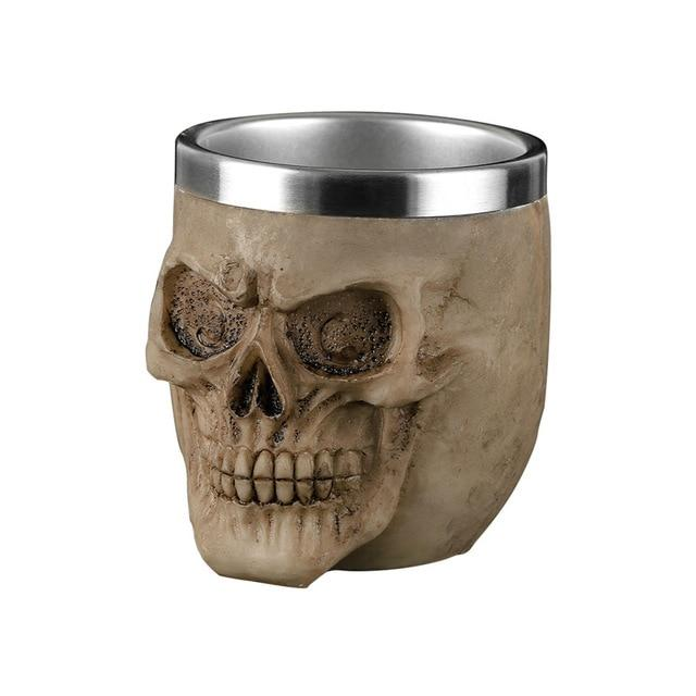 Resin Skull Gothic Cup 200ml - Skullflow