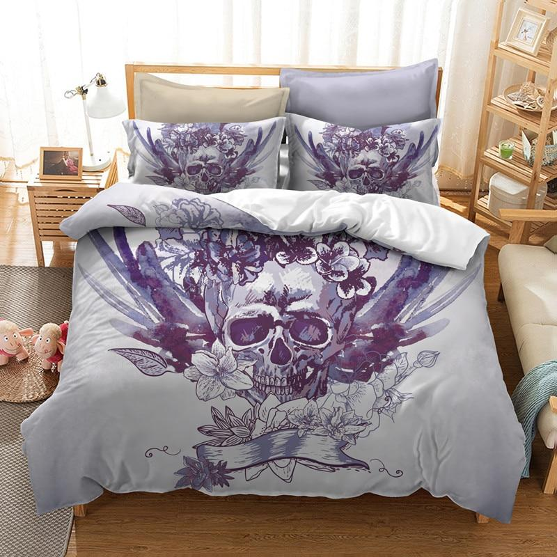 3D Flower Sugar Skull Bedding Sets - Skullflow