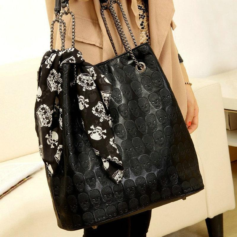 Vintage Skull Bag With Silk Scarf - Skullflow
