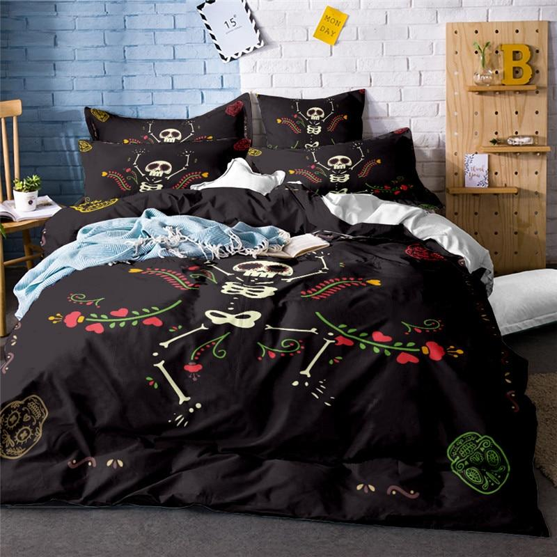 Dancing Bones Bedding Set - Skullflow