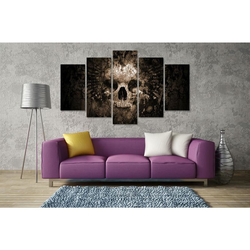 5 Piece Quake Skull Wall Art Picture - Skullflow