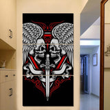 3 Piece HD Artistic Skull Tattoo Wall Art - Skullflow