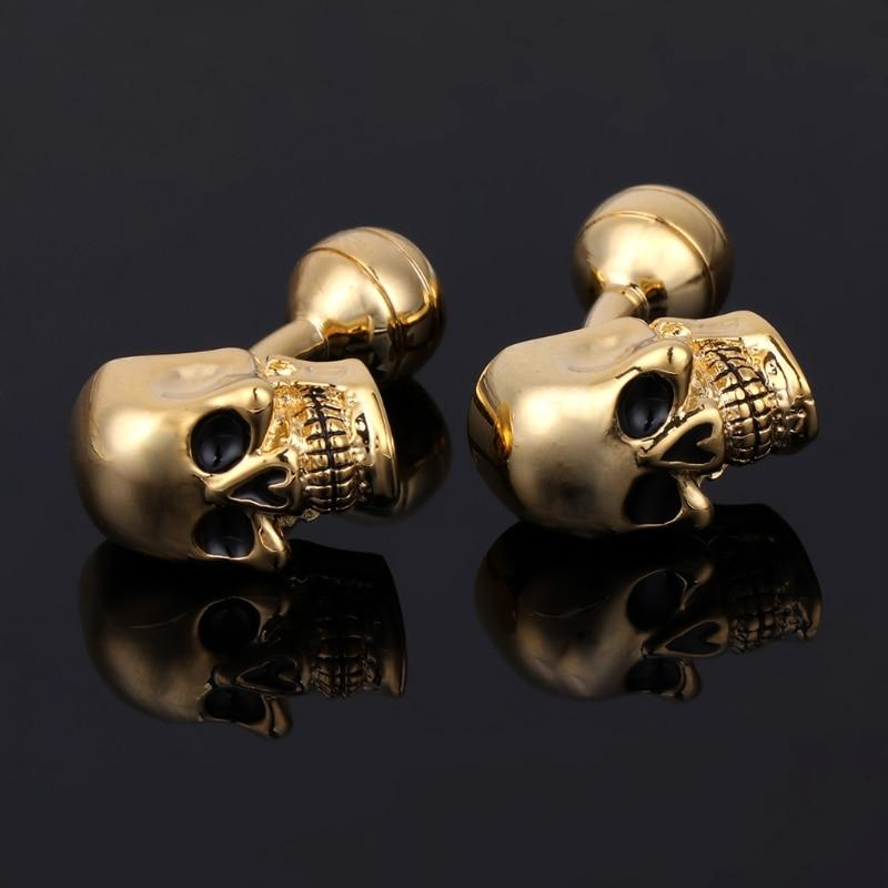 Punk Gothic Skull Head Cufflinks