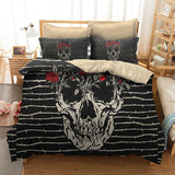 3D Rose Sugar Skull Bedding Sets - Skullflow