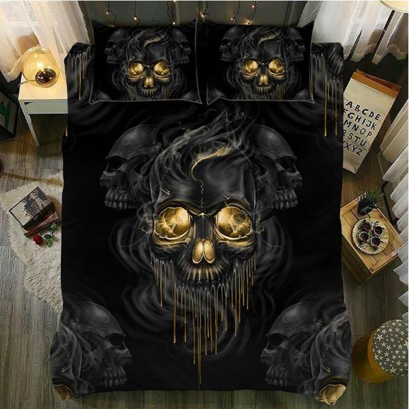 Skull Gold Eye Bedding Set