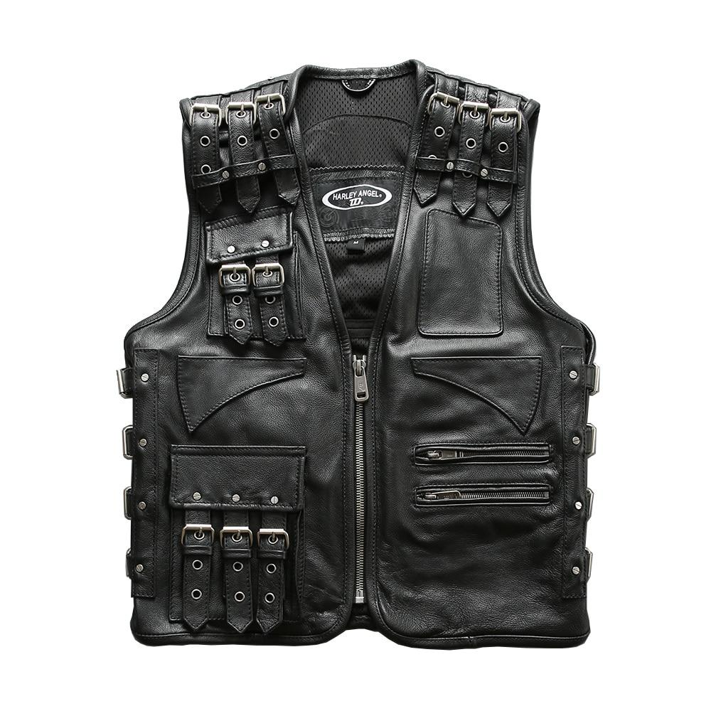 Cow Skin Adjustable Rider Vest