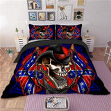 Cowboy Sugar Skull Bedding Set - Skullflow