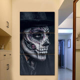 Artistic Sugar Skull Canvas Wall Art 3-Panels/Set