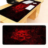 Red Skull Gaming Desk Mousepad - Skullflow