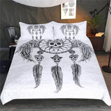 Dreamcatcher With Wings Mandala Bedding Set - Skullflow