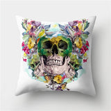 Floral Skull Cushion Cover - Skullflow