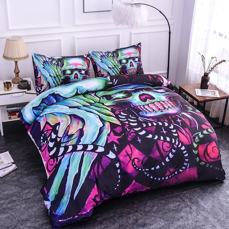 3D Skull Snake Tail Bedding Set - Skullflow