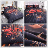 3d Skull Rose Pattern Comforter Bedding Set - Skullflow