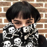 Skull Winter Knitted Scarf - Skullflow