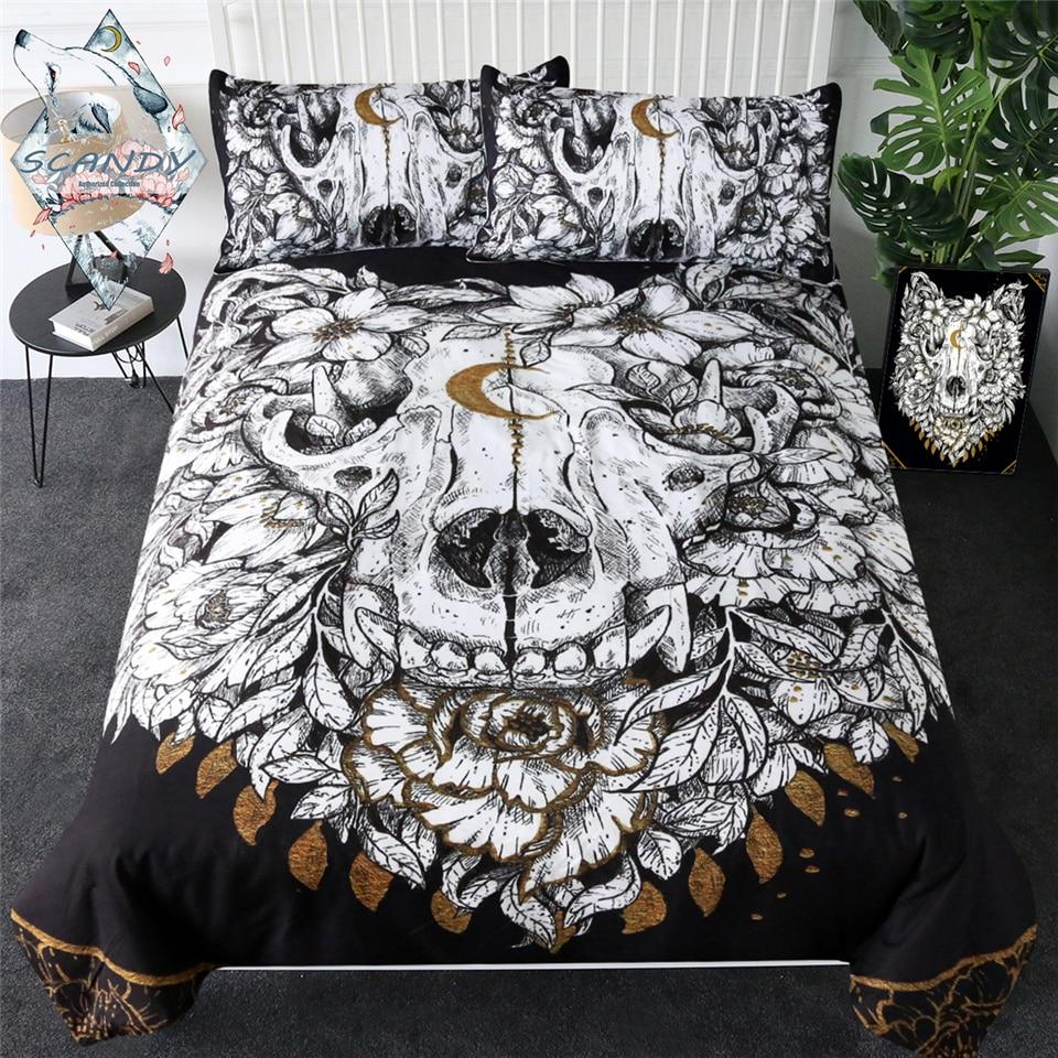 Wolf Skull Bedding Set
