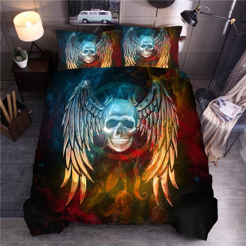 Skull Wing Dream Catcher Bedding Set