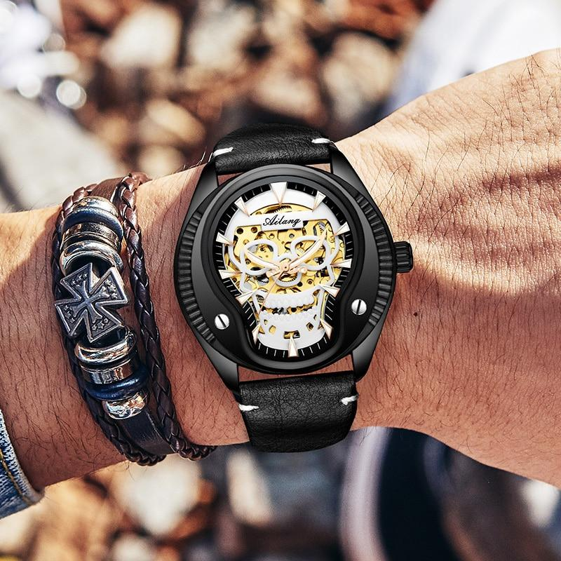 Skull Luminous Automatic Wristwatch