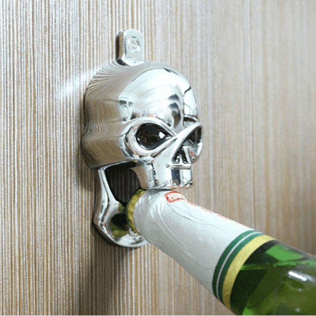 Skull Cast Iron Wall Mount Bottle Opener - Skullflow