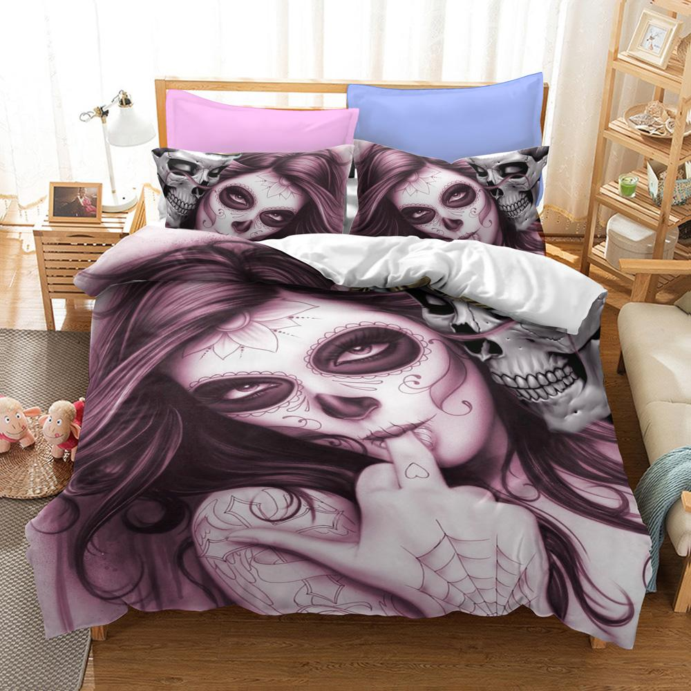 Sugar Lady Skull Bedding Set