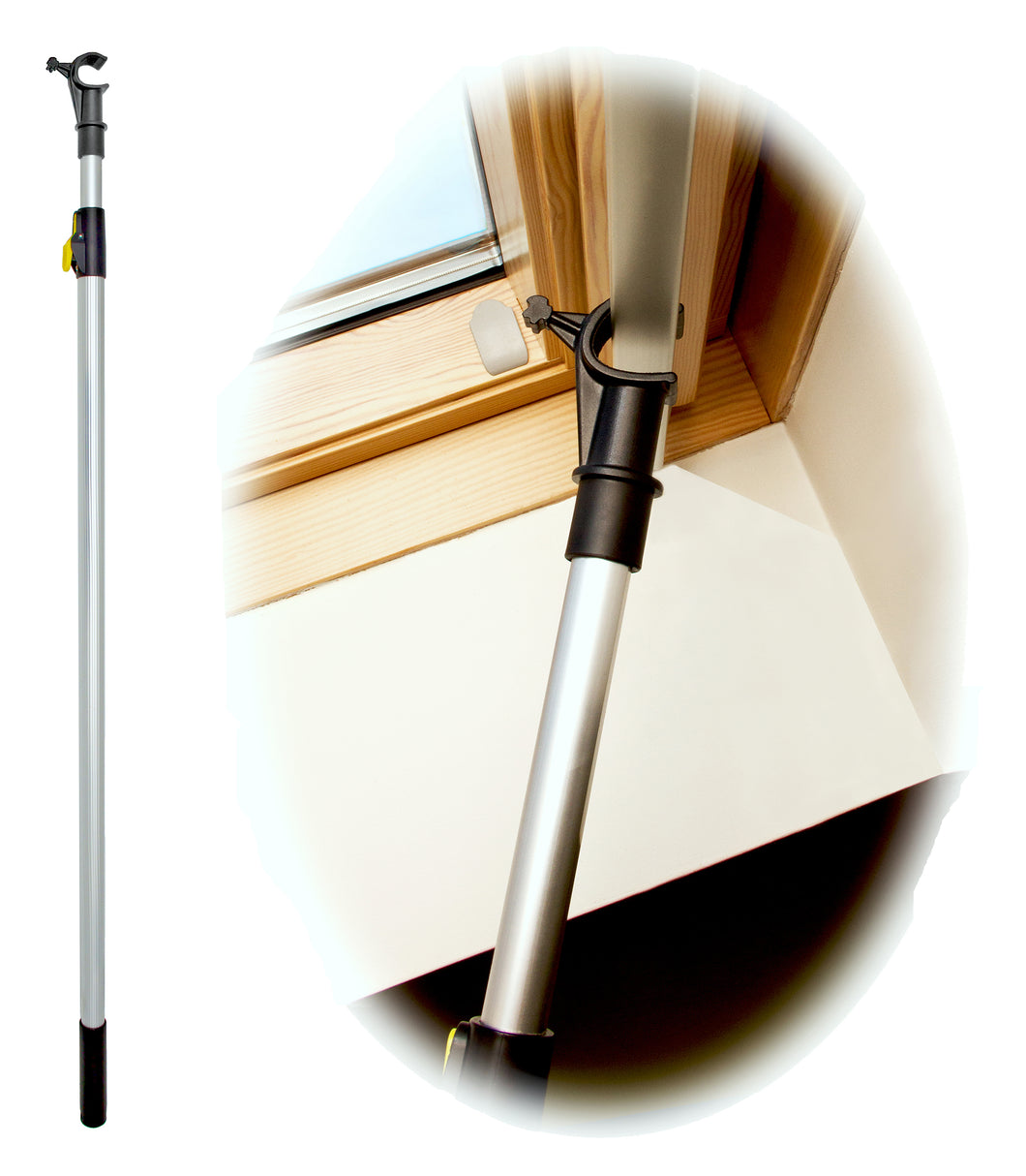 WinHux Window Pole 1.2-2.0 metre Silver - Free Delivery