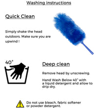 "WinHux® 3.47 Metre (136"") Extra Long Reach Extendable Duster Telescopic Handle, Bendable and Washable"