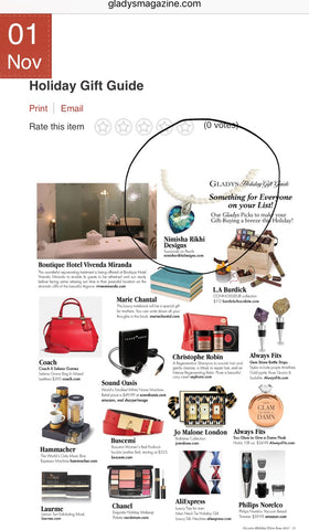 Gladys magazine gift guide feature