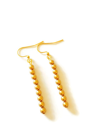 Gold Swarovski Pearl Earrings and Bracelet - Aarti