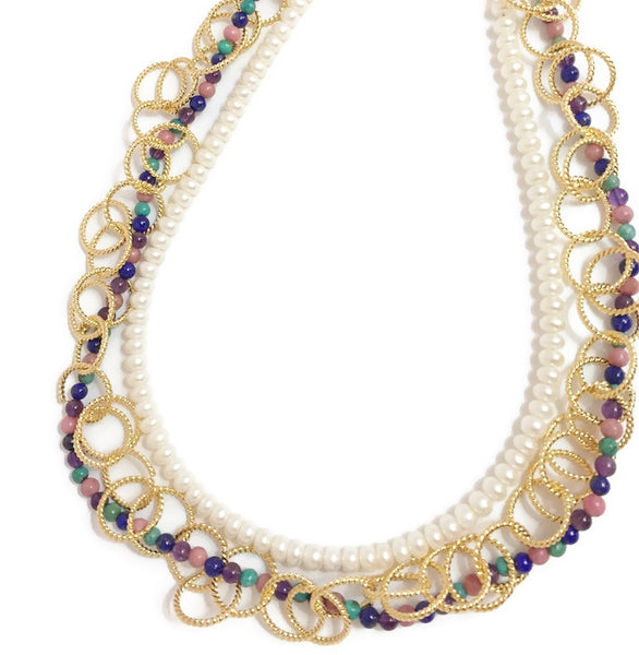Gold and Pearl Necklace - Zarina