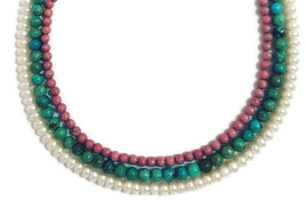 Triple Strand Pearl Necklace - Anuya