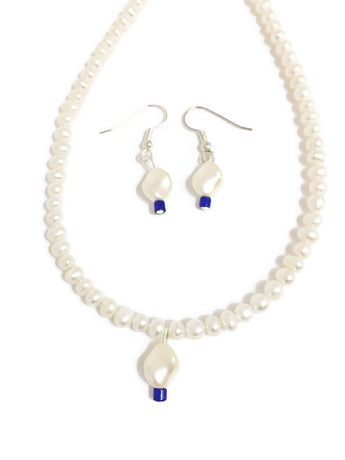 Blue Pearl Necklace - Neela