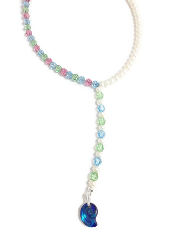Pearl and Crystal Necklace - Rukhsana