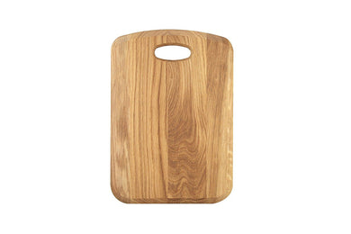 medium solid oak chopping board with stag engraved