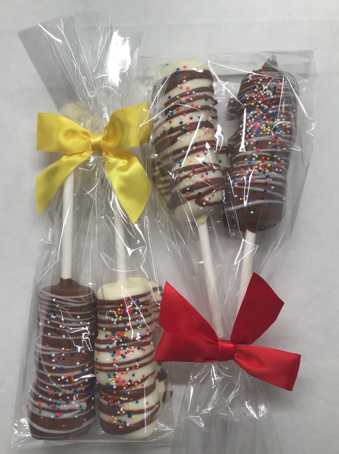 Chocolate Covered Marshmallow Sticks