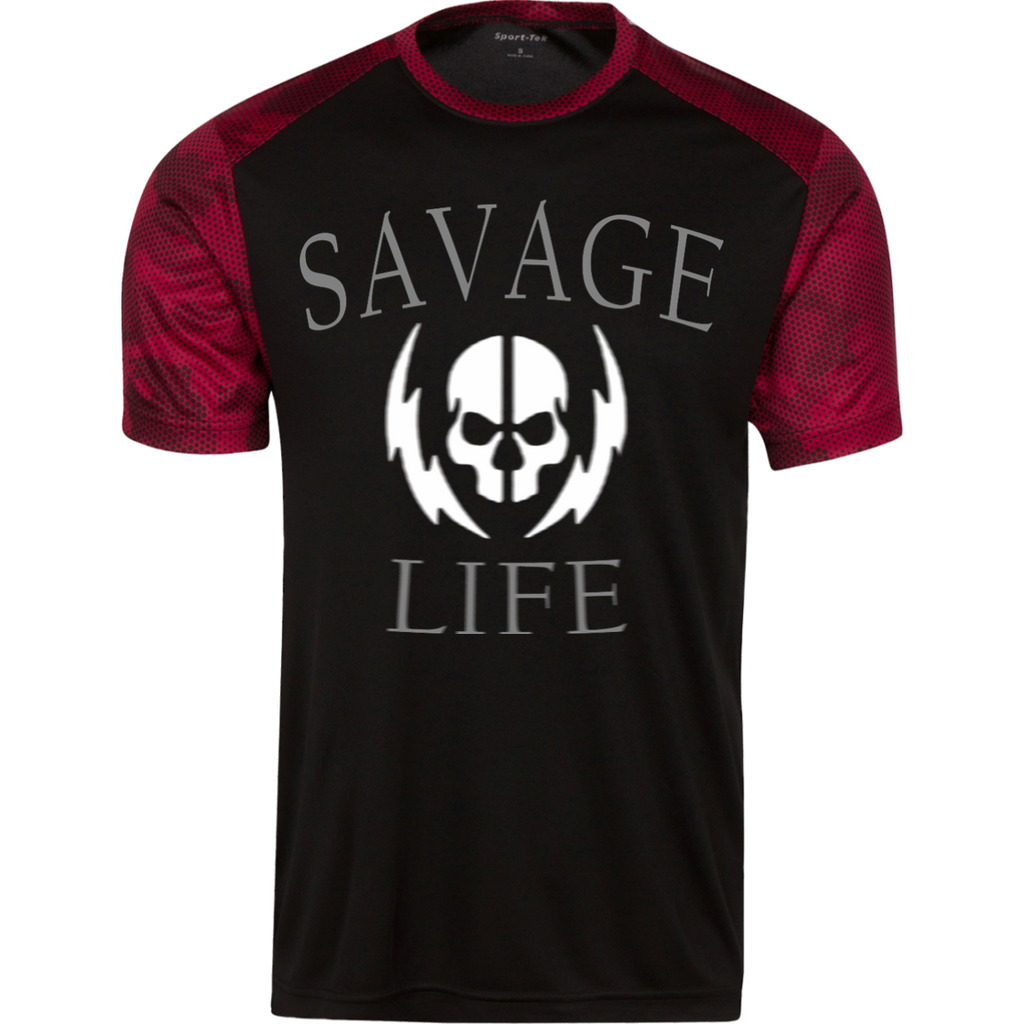 "Men's ""Savage Life"" CamoHex Tee"