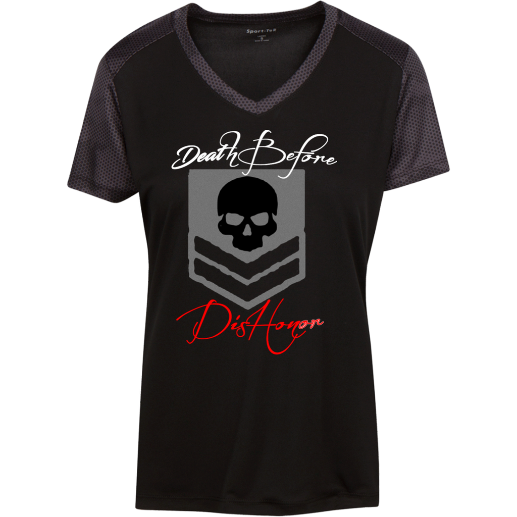 "Ladies ""Death Before Dishonor"" CamoHex Tee"