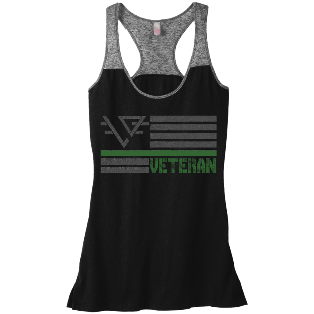 Women's Burn Out Veteran Tank