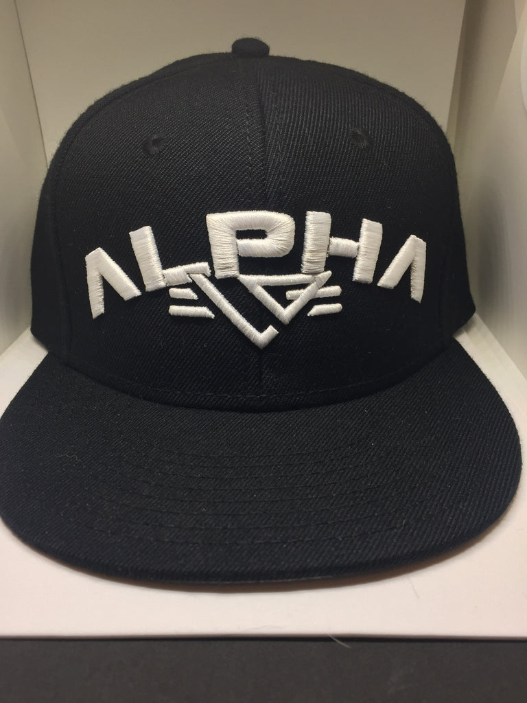 White Stitched Alpha Snapback - liftorquitapparel